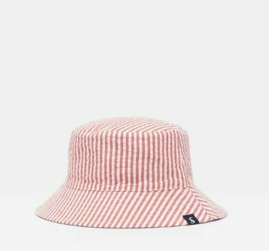 Joules Baby Boy Red/Blue Stripe Reversible Hat 985