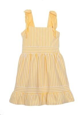 Isobella and Chloe Yellow Stripe Knit Dress