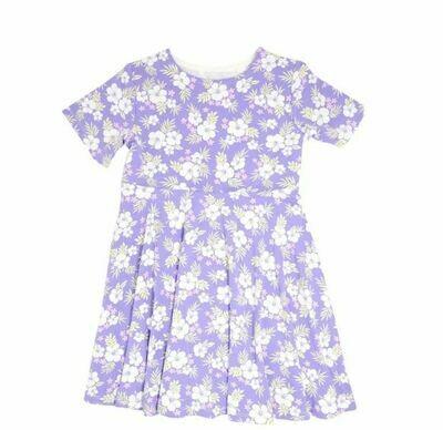 Sweet Bamboo Swirly Dress-Purple Hibiscus