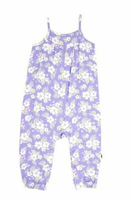 Sweet Bamboo Tank Pant Romper- Purple Hibiscus