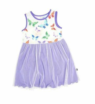Sweet Bamboo Tutu Dress- Rainbow Butterflies