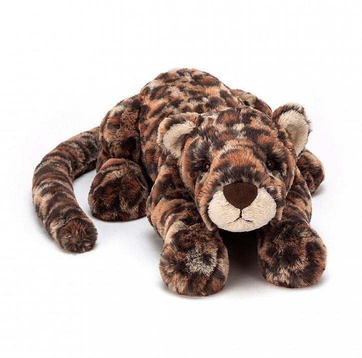 "Jellycat Livi Leopard Little 11"""