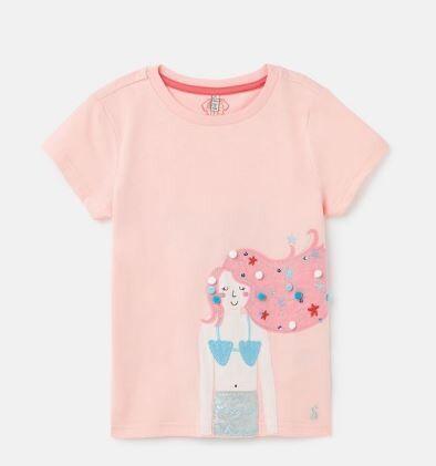 Joules Girls Pink Mermaid Top 687