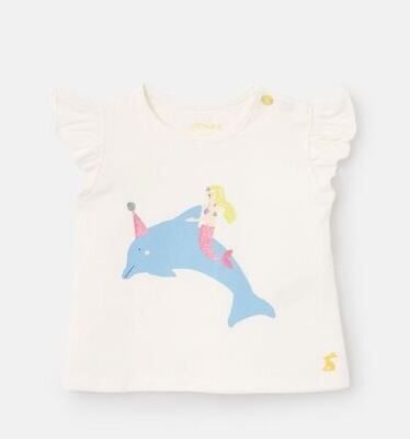 Joules Baby Girl White Dolphin Blouse 316