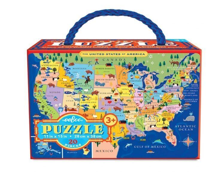 eeBoo United States 20Pc  Puzzel