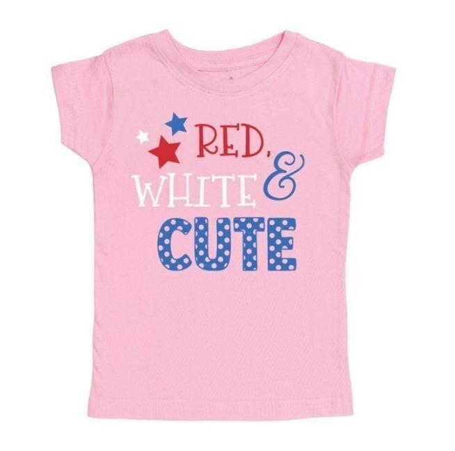 Sweet Wink Red White & Cute S/S Lt.Pink Tee