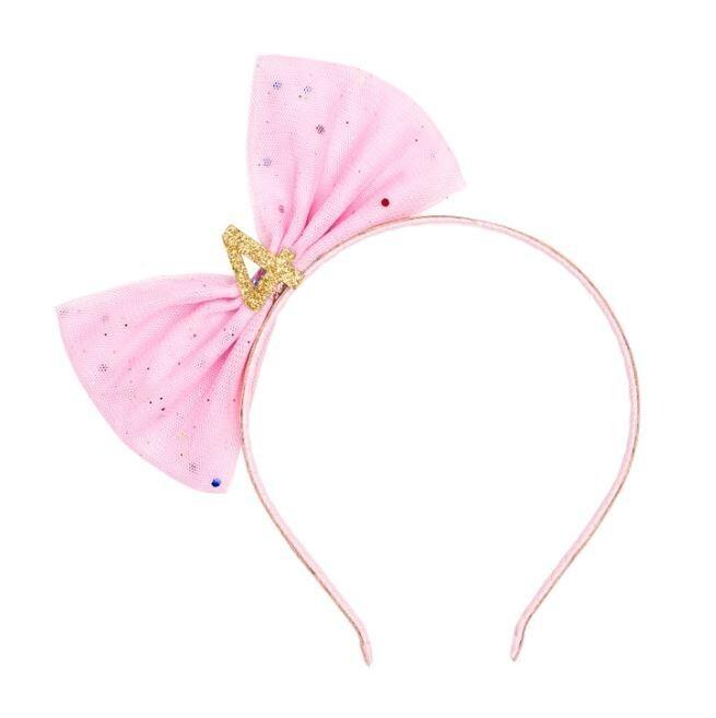 Sweet Wink Birthday Bow Headband #4