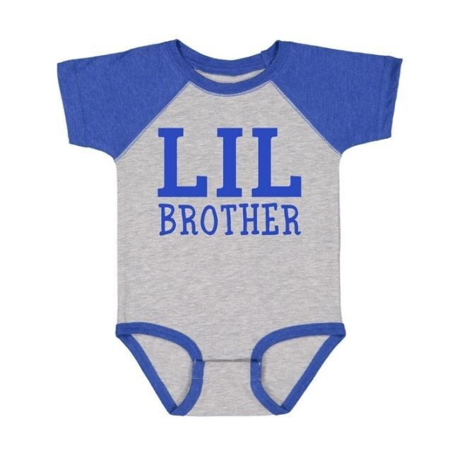 Sweet Wink Lil Brother S/S Bodysuit Heather/Royal