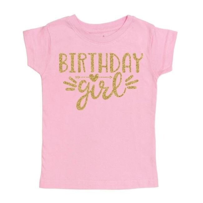 Sweet Wink Birthday Girl Doodle S/S Shirt