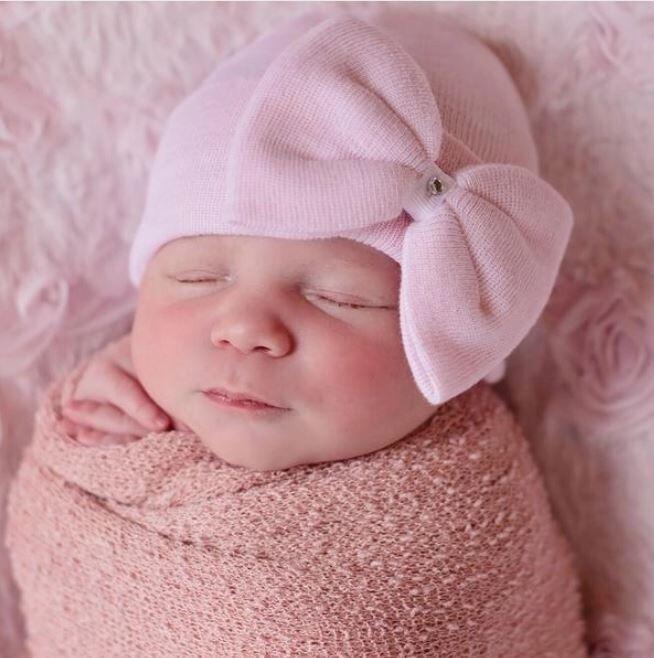 ILYBEAN Polly Pink Bow Beanie