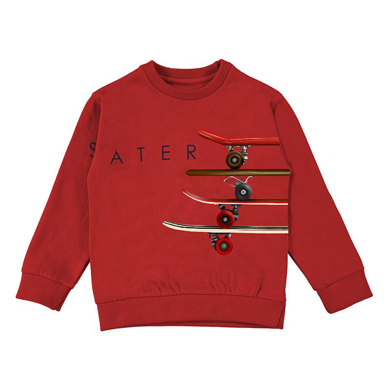 Mayoral Boys Red Pullover Skater 4402