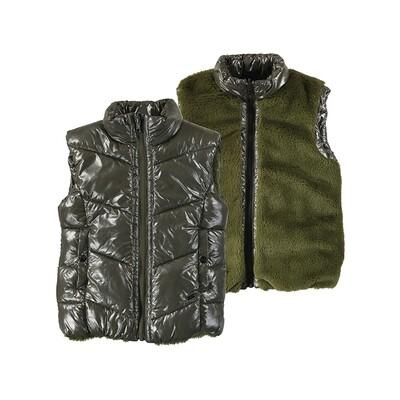 Mayoral Girls Hunter Green Reversible Vest 4379