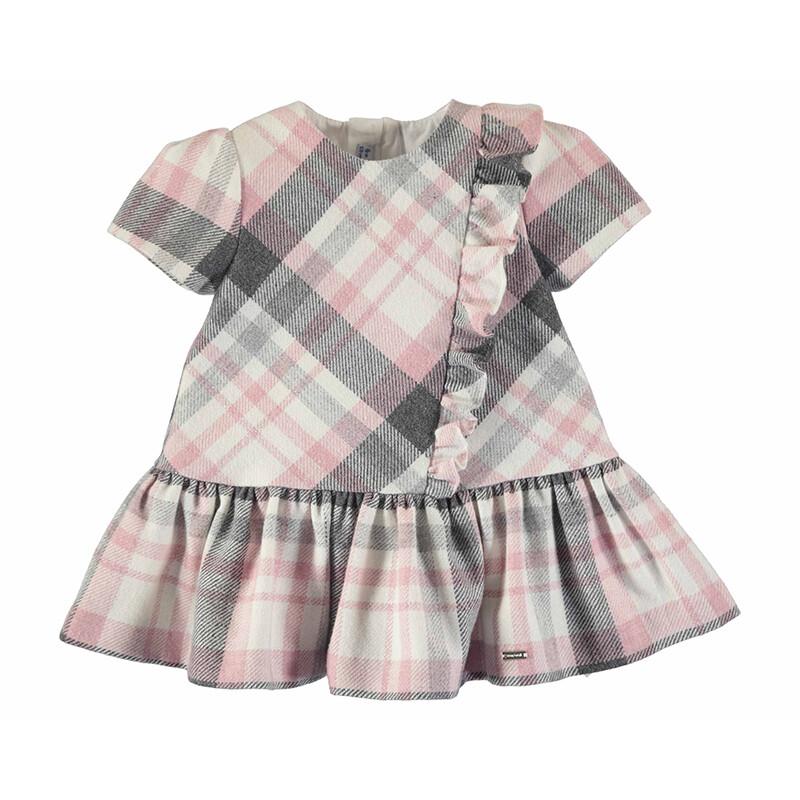 Mayoral Baby Girl Rose Plaid Dress 2906