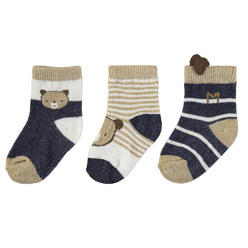 Mayoral Baby Boy Mix Blue 3 Socks Set 9424