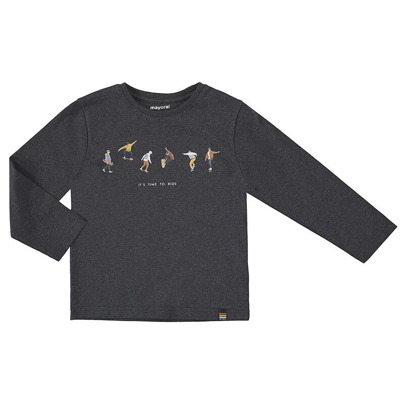 Mayoral Boys Graphite L/S Ride Shirt 4074