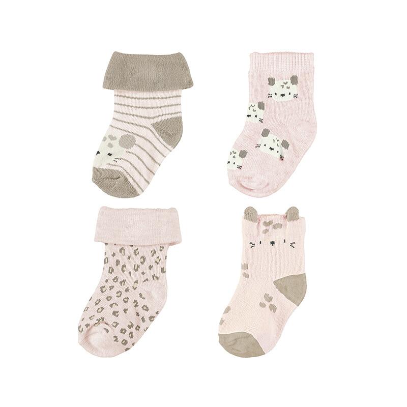 Mayoral Baby Girl Baby Pink 4pc Socks Set 9426