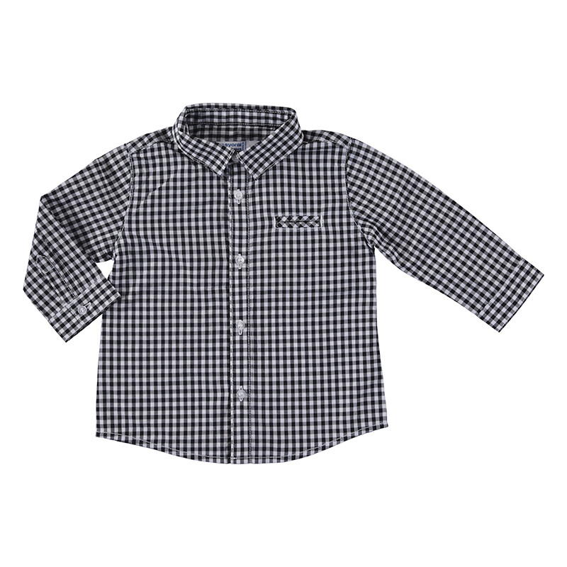 Mayoral Baby Boy Charcoal L/S Check Shirt 2145