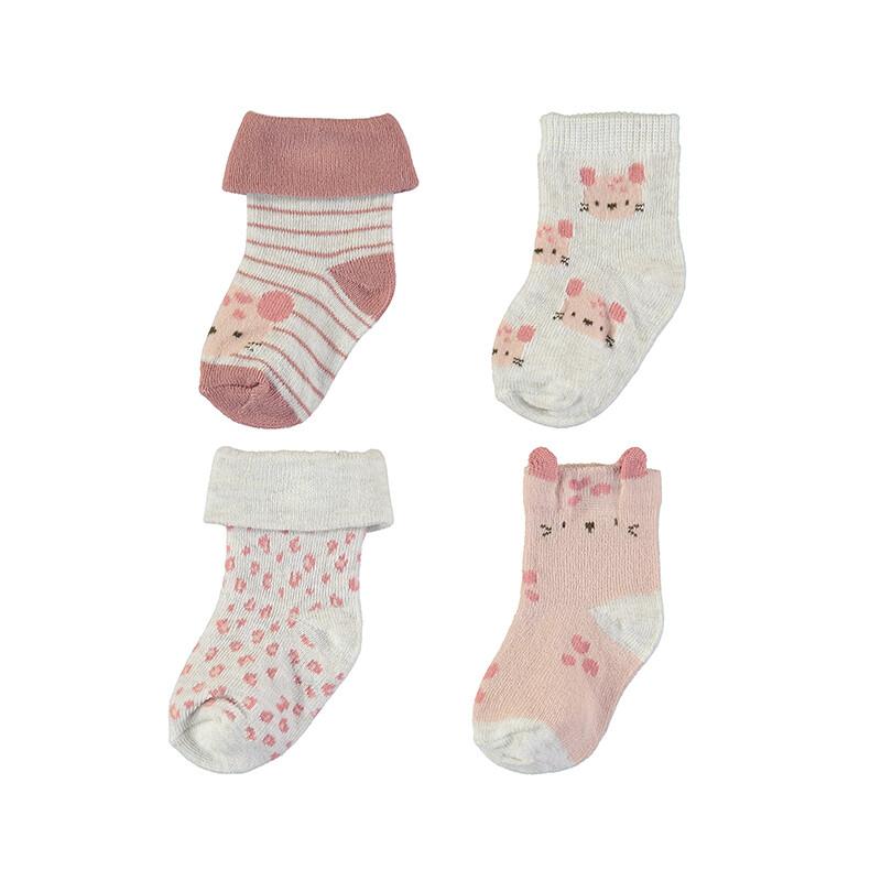 Mayoral Baby Girl Terracota 4pc Socks Set 9426
