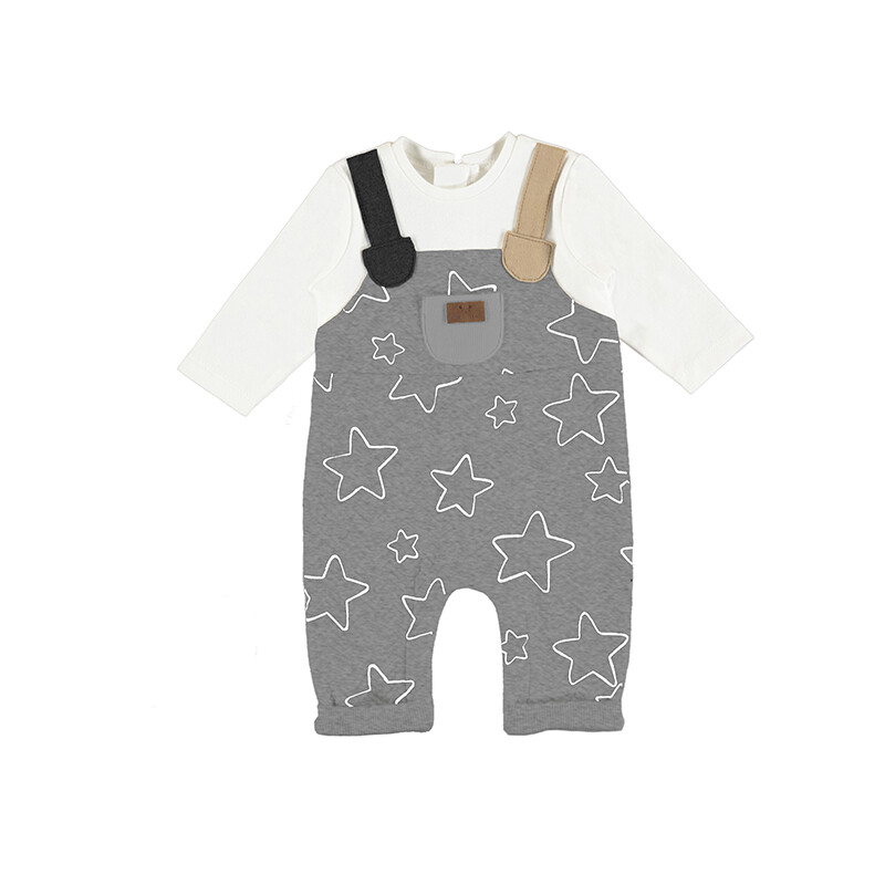 Mayoral Baby Boy Mix Gray Romper 2601