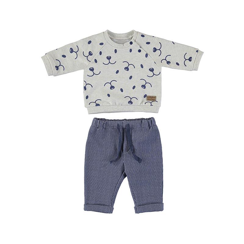 Mayoral Baby Boy Indigo Fleece Long Pants Set 2516