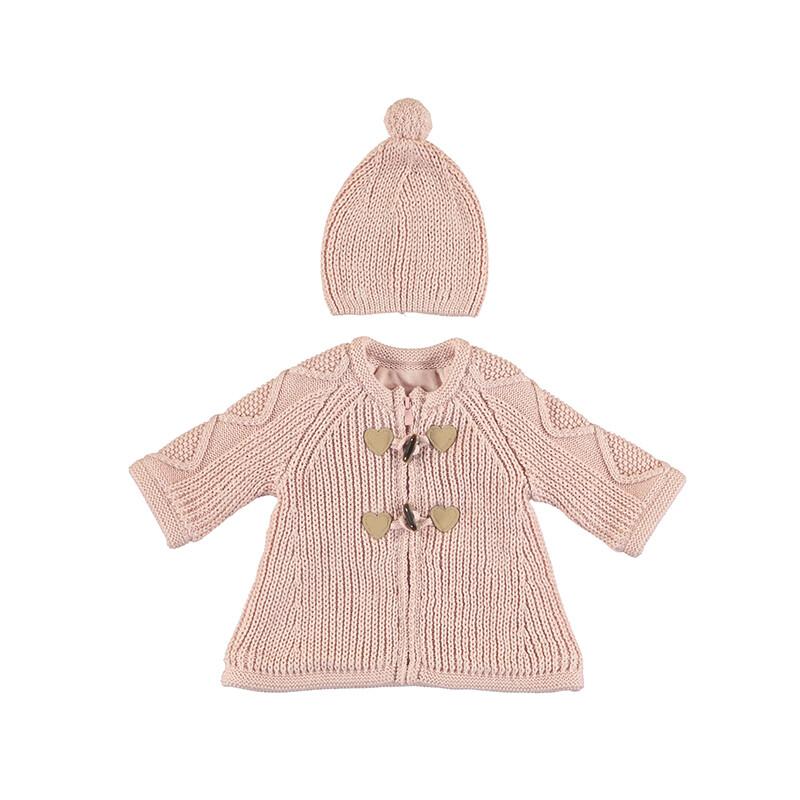 Mayoral Baby Girl Make-Up Cardigan w/Hat 2365
