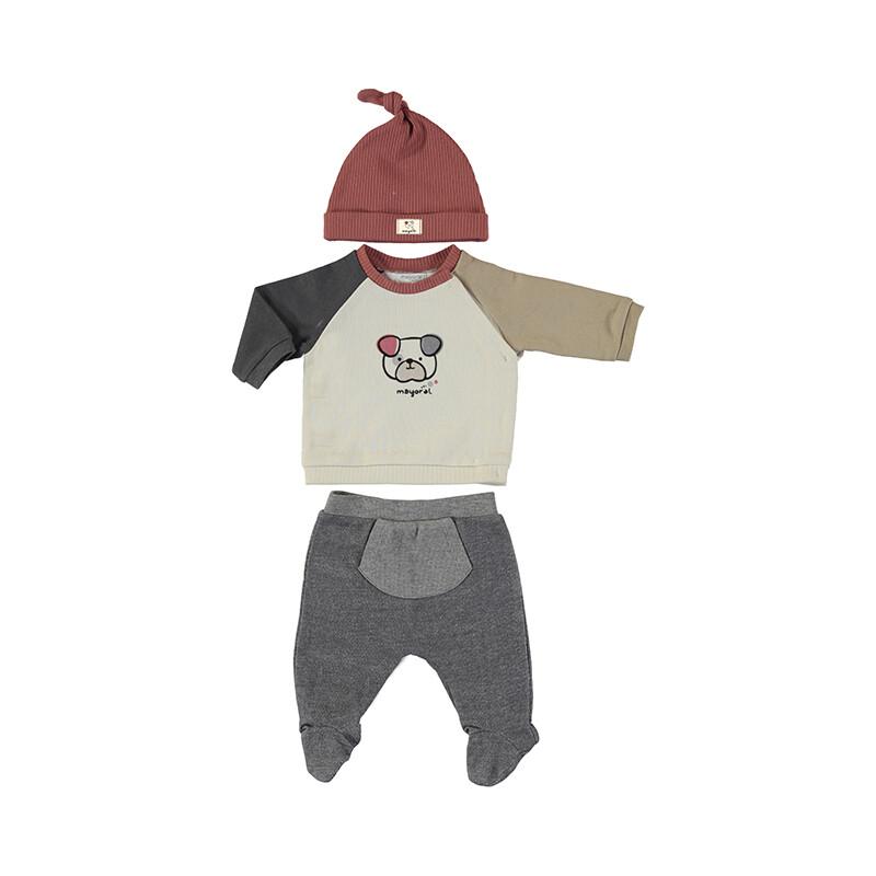 Mayoral Baby Boy Bone Leg Warmer w/Hat Set 2513