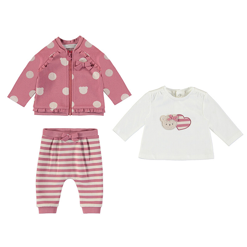 Mayoral Baby Girl Cranberry 3pc Tracksuit 2672