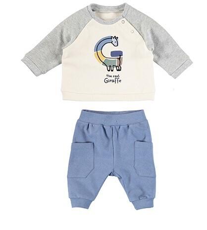 Mayoral Baby Boy River Blue 2pc Knit Set 2602