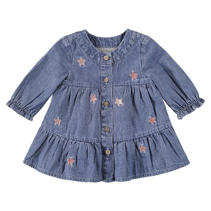 Mayoral Baby Girl Denim Dress 2822