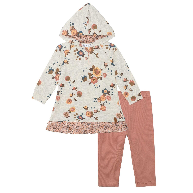 DeuxParDeux BG Fleur Terry Hooded Dress/Leggin F10