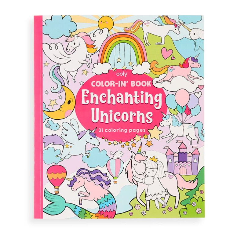OOLY Color-In Book-Enchanting Unicorns