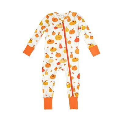 Angel Dear Baby Pumpkins 2Way Zip Romper