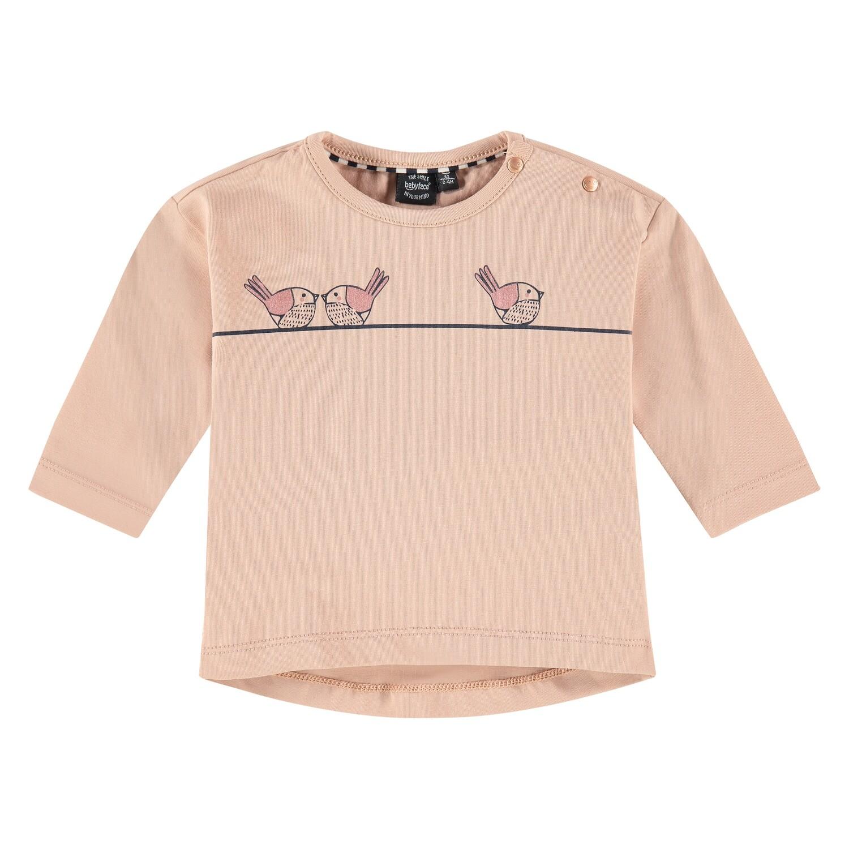 Babyface Baby Girl Faded Salmon LS T-Shirt 02