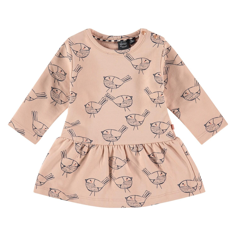 Babyface Baby Girl Faded Salmon Dress 04