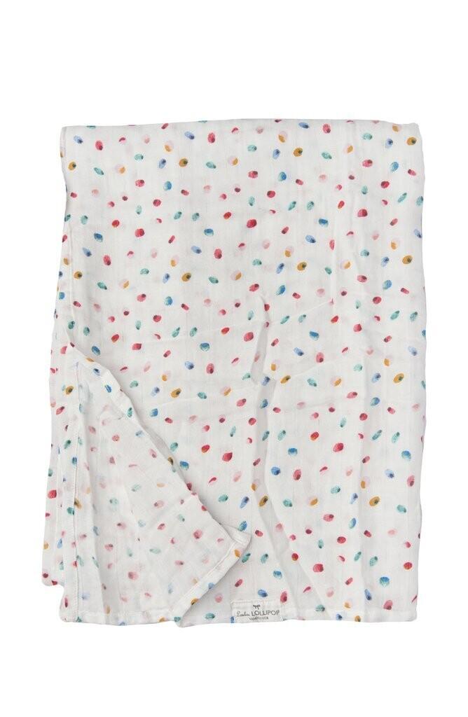 Loulou Lollipop Muslin Swaddle- Butterfly Dots