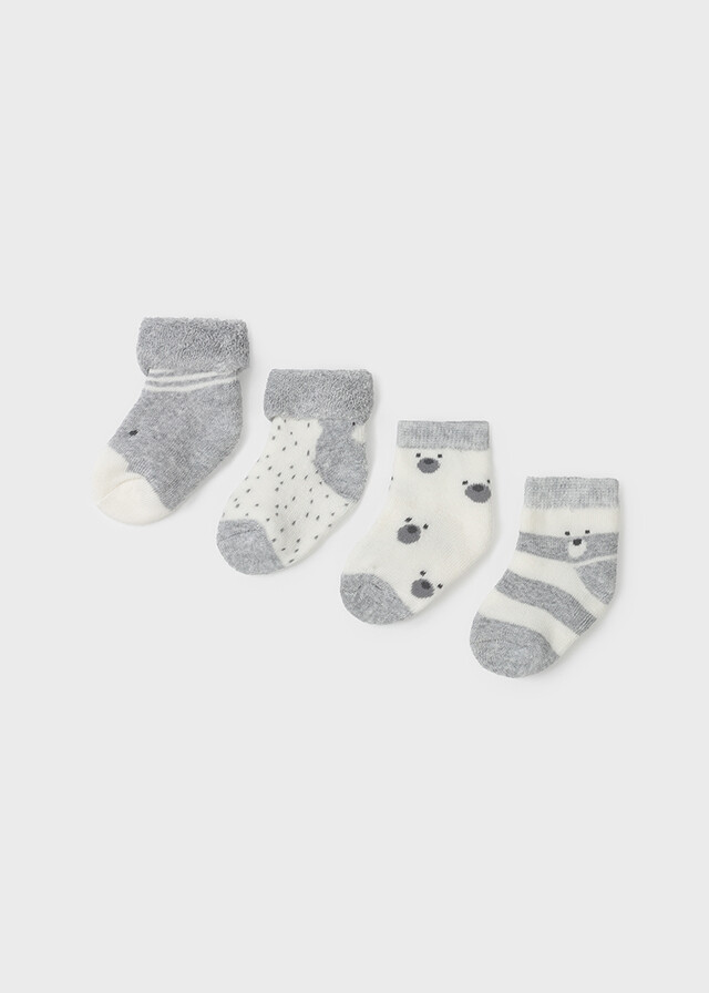 Mayoral Baby Boy Heather Gray 4 Pc Sock Sets 9421