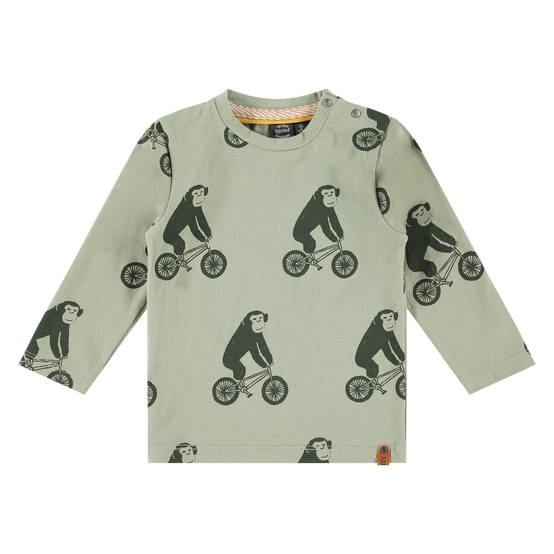 Babyface Boys Faded Green LS T-Shirt 57