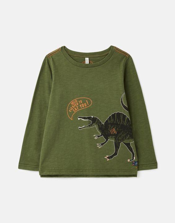 Joules Boys Raymond Green Dino Shirt 198