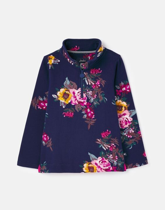 Joules Girls Fairdale Navy Floral Top 406