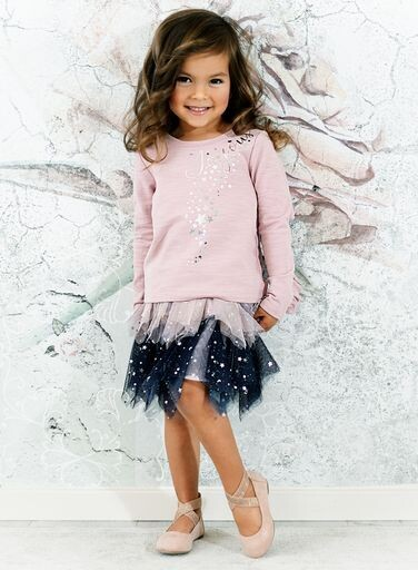 Baby Sara Girls Pink Hanky Mesh Tutu Skirt 76