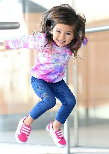 Baby Sara Girls Blue Leggings w/Rhinestone 84
