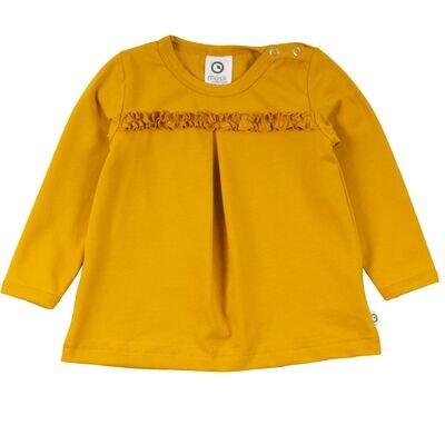 Musli Baby Girls Mustard Cozy Me Gather Tee