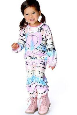 Baby Sara Girls Pink Tye Dye Top w/Heart 77