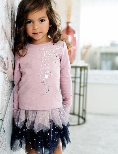 Baby Sara Girls Pink Top w/Joyous Print 08