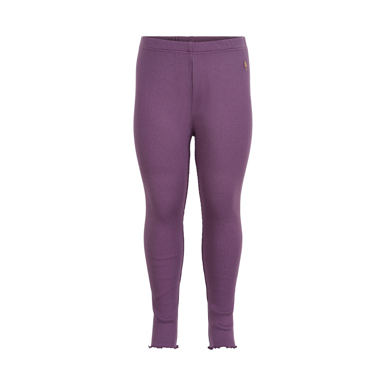 Minymo Girl Purple Rib Leggings 121576