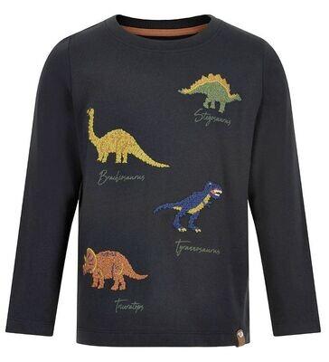 Minymo Boy L/s Black Dino shirt 131560