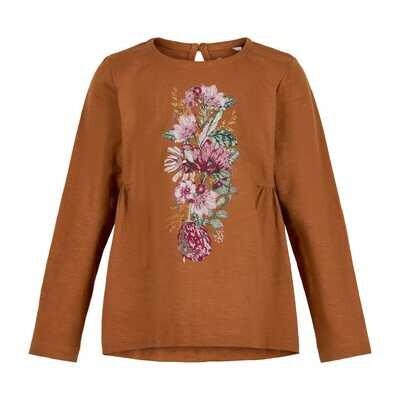 Minymo Girls Flower Print L/S Top 121555