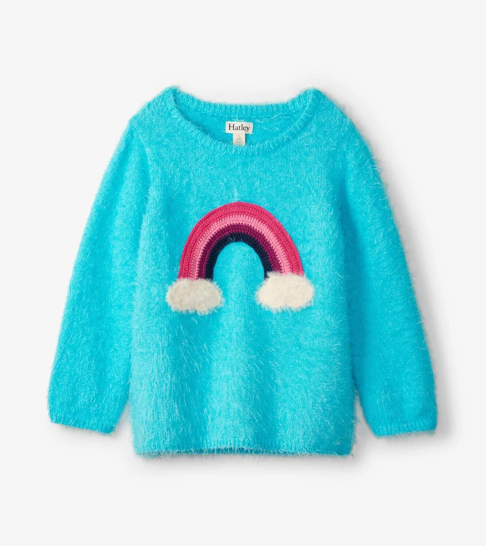 Hatley Girls Rainbow Fuzzy Sweater 1350