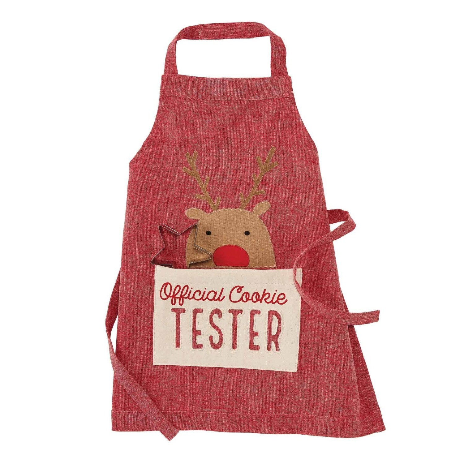 Mud Pie Reindeer Apron With Cookie Cutter