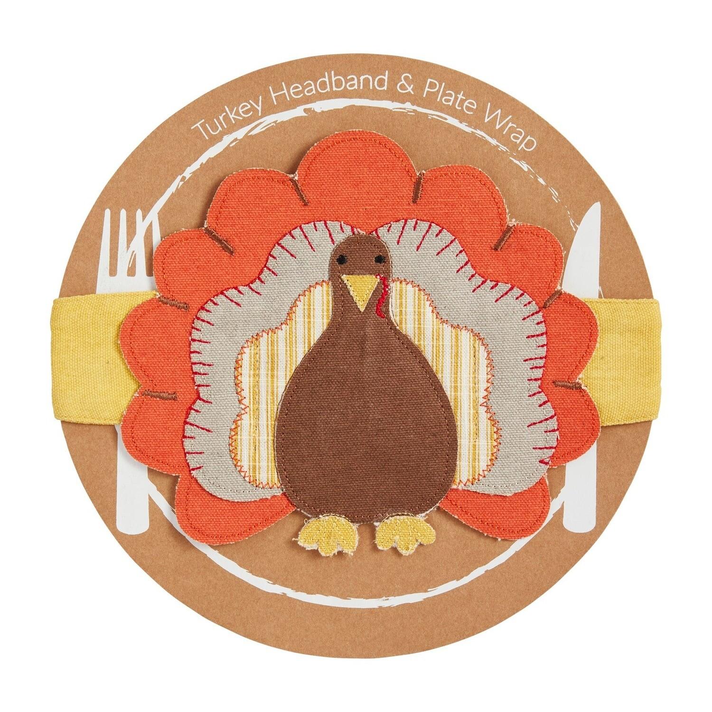 Mud Pie Turkey Headband - Orange